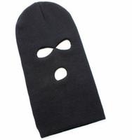 Wholesale CT002 Special Forces Unisex Warm Hat Soldier Three Bores CS Game Cap Face Masks Men And Women Black Hat Caps