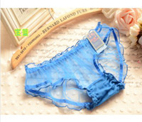 Wholesale 2014 NEW ARRIVAL THE BRIEFS AND SOFT WOMEN LACE PANTIES WITH BLOW WAIST DESIGN AND RUFFLES STYLE WHICH IS COMFORTABLE