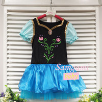 Wholesale Girls Frozen Anna Ballet Tutu Dancewear Dress Kids Leotard Dancing Costumes dance tutu skirt
