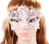 Wholesale New Fashion Sexy Lace Veil Halloween Masquerade Dance mask Face Mask White Cutout Party Masks Drop Shipping party decoration HG Party
