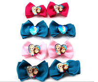 Barrettes & Clips Children's Gift Free UPS Frozen Bowknot Hair Clips Princess Elsa Anna Cute Girls Hair Metal Barrettes Handmade For Children DIY Accessory Factory Price