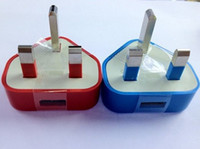 Wholesale 200pcs USB Travel Wall Charger Adapter UK pin Plug For iphone S S Samsung S3 S4 JBD UK