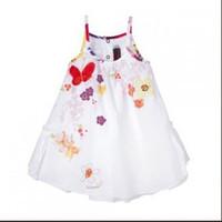 baby girl kids strap dress cotton dress flower dress floral ...