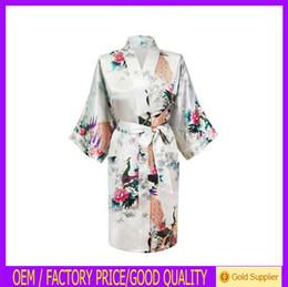 Wholesale SP006 Short Peacock kaftan abaya Nightdress Japanese Kimono Robe bathrobe Dressing Gown Z