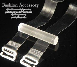 Free Shipping 1cm Lady Transparent Invisible Adjustable Clear Bra Shoulder Straps Fedex free shipping 3000pair lot
