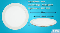 Wholesale 9W W W W w LED Panel Lights Nature Warm Cool White SMD2835 ceiling recessed Downlight with Power Supply Fixture
