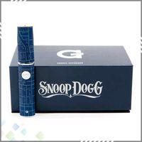 Single Blue Metal Vaporizer Pen Blue Snoop Dogg Dry Herb E Cigarette Kit Wax Dry Herb Tank New G PEN with blue Gift Box DHL Free