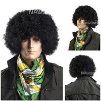 Wholesale black color ball fan wig short curly wig PP materials pc XC655