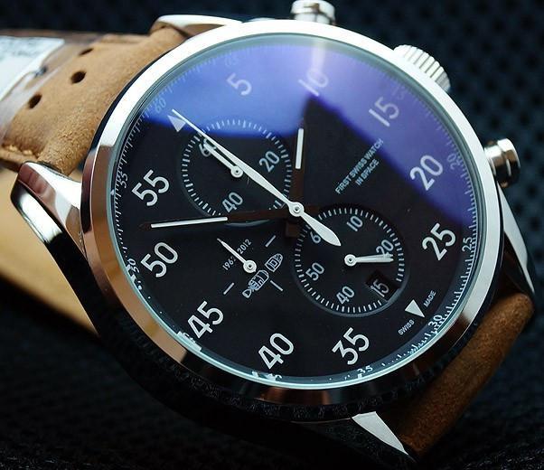 new fashion men brand watch sport mens watches quartz chronograph cheap round watch best leather analog