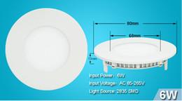 Descuento luces de techo led brillantes Luces interiores 6W 9W 12W 15W 18W LED brillante SMD empotrada en el techo Panel de Down Bombilla Ronda Lámpara 85-265V