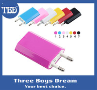 Cheap Colorful travel Charger Adapter Mutil for iPhone 5C 5S Samsung HTC 500pcs AC Power 1A US EU Plug USB Wall for 3G 3GS 4 4S 5 PSP Ipod Mp3 Mp4