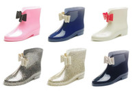 Wholesale New Fashion Women Rain Boots Low Water Shoes Ladies Short Rain Shoes Slip Resistant Sweet Rubber Boots For Woma