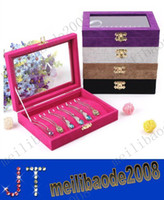 Jewelry Boxes glass jewelry box - Quality Jewelry Tray With Glass Lid Bracelet Holder Pendant Necklace Tray Jewelry Display Storage Box Jewelry Cases MYY2180