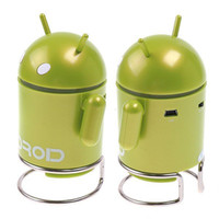 Wholesale Andriod Robot Mini Speaker Mp3 Player with TF USB port computer Speakers portable speakers USB speakers Sound box Factory Price H