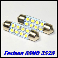 Wholesale 10pcs mm mm mm mm SMD Car Auto Interior LED SMD Light White Festoon Dome Lamp Bulb