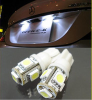 Wholesale T10 SMD Bulbs Car Side LED Light W5W White Red Green Blue yellow pink LED Wedge Lamp