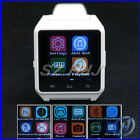 Wholesale Climbing Run U Watch M28 Smart Watches Bluetooth Mobile Phone Watch For iPhone Samsung Wristwatch With Remote Taking Black White