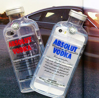 Wholesale New Luxury absolute Vodka alcohol Bottle Transparent TPU Case For Iphone s s g D Clear Silicone Cover in stock
