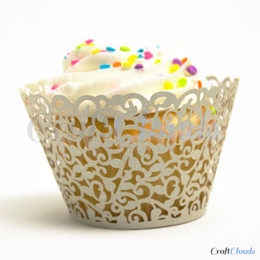 12pcs lot free shipping Silvery Little Vine laser cut cupcake wrapper muffin paper cup cake case holder 4 wedding birthday decoration