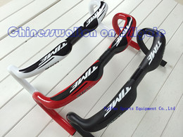 Wholesale 2014 newest Time rxrs full carbon fiber road bike handlebar Bicycle accessories mm only g black red black white full black