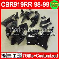 7gifts For HONDA CBR900 919RR ALL Black 98- 99 CBR900RR CBR91...