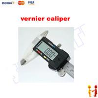 Wholesale Free ship Electronic digital vernier caliper slide caliper mm with LCD display