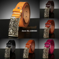 Wholesale hot fashion Women s Vintage Belt Genuine Leather All Match Belt For Women Good Quality Candy Color SV001782