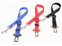 Wholesale Black blue red Adjustable Car Vehicle Safety Seatbelt Seat Belt Harness Lead for Dog Pet