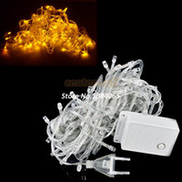 Wholesale Cheapest LED String Light M V EU Decoration Light for Christmas Party Wedding Yellow Drop Shipping TK0293