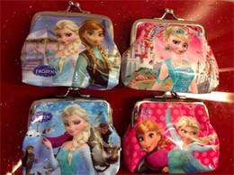 Wholesale hot girls Frozen Coin Purses kids Snow Queen wallet chilldren princess Elsa Anna money bag