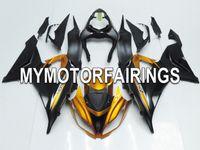 Wholesale Fit Kawasaki Ninja ZX R ZX6R Year Sportbike ABS Motorcycle Fairing Kit Bodywork Cowling Motorbike Fairings Black Gold