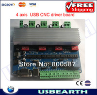 Cheap Free ship !!! 4 axis USB cnc controller USB CNC driver board,cnc machining parts,cnc stepper motor driver kit