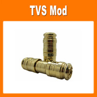 Wholesale TVS mechanical mod golden battery body Use battery E cigarette starter kit for EGO electronic cigarette