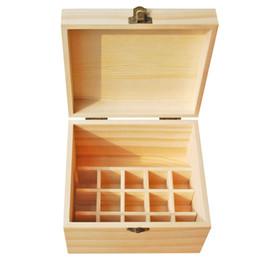 Древесное масло для продажи-Оптовые многофункциональные деревянные Эфирные масла Вставка 15 отверстий и 1 поперечина 10 - 50мл бутылки естественной сосновой древесины, ручной работы, без краски