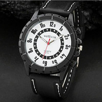 Cheap WEIJIEER 5042 Round Dial Silicone Band Men's Analog Quartz Sports Watch