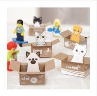 Wholesale Kawaii Stationery Cat Sticky Memo Pad Cute animal sticky notes Office Post it Note Scrapbook Sticker set