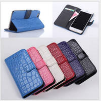 For iPhone6 Leather tell us what color you want Snake Croco Crocodile Folio Leather Wallet Pouch case credit card For iphone 6 Air 6G 6TH iphone6 4.7 inch stand holster Plastic Cover skin