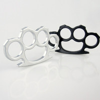 Wholesale 10pcs black white thin brass knuckle duster