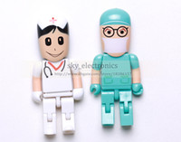 Wholesale 2014 New Arrival GB GB GB Doctor Robot cartoon USB Flash Memory Pen Drives Sticks Disks Pendrives Thumb drives