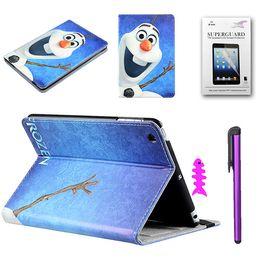 Mélanger le cas de la mode à vendre-Elsa et Anna Flip Stand étui en cuir PU pour iPad 2/3/4 avec stand de dessin animé tapette Flip style Nouveau style de haute qualité
