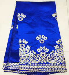 Wholesale yards a piece Newest African george lace fabric for party clothing NO GLD2 royal blue and many colors in stock