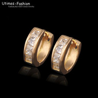 Wholesale Costume k Gold Plated Hoop Earrings Jewelry mm with Evironmental Copper