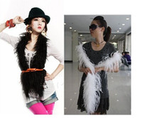 Wholesale 2014 New Arrival cm quot Ostrich Feather Strip Wedding Party Feather Boa Stage Cosplay Props Fashion Scarf Color Selected