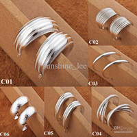 Wholesale Vintage Ladies Gift pairs Silver Fashion Circles Ladies Earrings Fashion Earrings Mixed