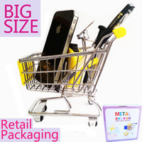 Grow Bags Hand Trolley Steel Attention BIG SIZE mini shopping trolley Mini Shopping Cart Desk Organizer