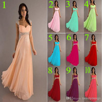 Wholesale Only cheap A line chiffon evening prom gowns off the shoulder sequins beaded cap sleeves floor length bridesmaid dresses DJ8671