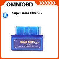 Wholesale 100 good feedback Super Mini ELM327 elm V2 Bluetooth OBD2 OBD II CAN BUS car auto Diagnostic Scanner Tool K497