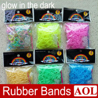 Link, Chain DIY Children's DHL free Hot DIY Rainbow Loom glow in the dark Refill Bands Bracelet for kids DIY (600 pcs bands + 24 pcs C S -clips + 1 hook) ) 6 Colors
