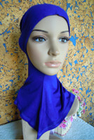 Wholesale L002 soft cotton cover neck solid color muslim scarf inner cap hot sale islamic hijab ninja underscarf turban