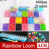 8-11 Years Multicolor Rubber Best Toys 22 colors Rainbow loom kit Rubber Bands for Kids DIY Bracelet Loom with 4400 bands + 100 clips +1 loom + 1 hook + 12 PVC Charms